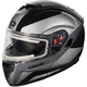 Black Atom SV Tarmac Modular Snow Helmet w/Electric Shield