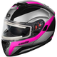 Pink Atom SV Tarmac Modular Snow Helmet w/Electric Shield