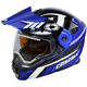 Blue/Black EXO-CX950 Slash Snow Helmet w/Electric Shield