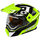 Hi-Vis/Black EXO-CX950 Slash Snow Helmet w/Electric Shield