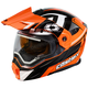 Flo Orange/Black EXO-CX950 Slash Snow Helmet w/Electric Shield