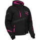 Women's Black/Process Magenta Powder Jacket