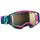 Teal/Pink Prospect Snowcross Goggles w/L.S. Bronze Chrome Lens - 262581-5720245