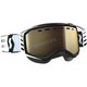 Black/White Prospect Snowcross Goggles w/L.S. Bronze Chrome Lens - 262581-1007245