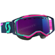 Teal/Pink Prospect Snowcross Goggles w/Amp Chrome Lens - 262581-5720315