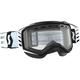 Black/White Prospect Snowcross Goggles w/Clear Lens - 262581-1007043