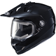 Black DS-X1 Snow Helmet w/Frameless Electric Shield