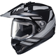 Black/Gray DS-X1 Lander MC-5 Snow Helmet w/Frameless Electric Shield