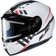 Semi-Flat White/Black CS-R3SN Space MC-10SF Helmet w/Frameless Electric Shield