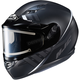 Semi-Flat Black/Gray CS-R3SN Space MC-5SF Helmet w/Electric Shield