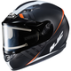 Semi-Flat Black/White CS-R3SN Space MC-7SF Helmet w/Frameless Electric Shield