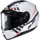 Semi-Flat White/Black CS-R3SN Space MC-10SF Helmet w/Frameless Dual Lens Shield