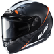 Semi-Flat Black/White CS-R3SN Space MC-7SF Helmet w/Frameless Dual Lens Shield