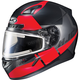 Semi-Flat Black/Red/Gray CL-17SN Boost MC-1SF Helmet w/Frameless Electric Shield