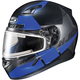 Semi-Flat Black/Blue/Gray CL-17SN Boost MC-2SF Helmet w/Frameless Electric Shield