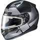 Semi-Flat Black/Gray CL-17SN Boost MC-5SF Helmet w/Frameless Electric Shield
