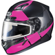 Semi-Flat Black/Pink/Gray CL-17SN Boost MC-8SF Helmet w/Frameless Electric Shield
