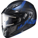 Semi-Flat Black/BlueCL-Max2SN Friction MC-2SF Helmet w/Framed Electric Shield