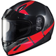 Youth Semi-Flat Black/Red CL-YSN Boost MC-1SF Helmet w/Framed Dual Lens Shield