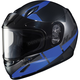 Youth Semi-Flat Black/Blue CL-YSN Boost MC-2SF Helmet w/Framed Dual Lens Shield