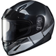 Youth Semi-Black/Gray CL-YSN Boost MC-5SF Helmet w/Framed Dual Lens Shield