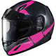 Youth Semi-Flat Black/Pink CL-YSN Boost MC-8SF Helmet w/Framed Dual Lens Shield