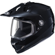 Black DS-X1 Snow Helmet w/Frameless Dual Lens