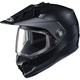 Matte Black DS-X1 Snow Helmet w/Frameless Dual Lens Shield