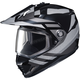 Black/Gray DS-X1 Lander MC-5 Snow Helmet w/Frameless Dual Lens Shield
