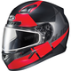 Semi-Flat Black/Red CL-17SN Boost MC-1SF Helmet w/Frameless Dual Lens Shield