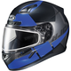 Semi-Flat Black/Blue CL-17SN Boost MC-2SF Helmet w/Frameless Dual Lens Shield