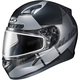 Semi-Flat Black/Gray CL-17SN Boost MC-5SF Helmet w/Frameless Dual Lens Shield