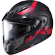 Semi-Flat Black/Red CL-Max2 Friction MC-1SF Helmet w/Framed Dual Lens Shield