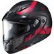 Semi-Flat Black/Red CL-Max2 Friction MC-1SF Helmet w/Framed Dual Lens Shield