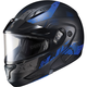 Semi-Flat Black/Blue CL-Max2 Friction MC-21SF Helmet w/Framed Dual Lens Shield