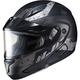 Semi-Flat Black/Gray CL-Max2 Friction MC-5SF Helmet w/Framed Dual Lens Shield