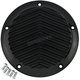 Black  5-Hole V Fin Derby Cover  - 06-960-4B