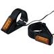 Black 49mm Fork Mount Rectangle LED Turn Signals - 05-302-1
