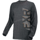 Charcoal Heather/Gray Evo Long Sleeve Shirt