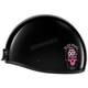 Gloss Black Cheater .50 Helmet w/Pink Logo
