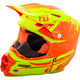 Hi-Vis/Orange F2 Carbon Forge Cold Weather Helmet