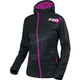 Women's Black/Wineberry  Diamond Dual-Laminate Jacet
