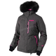 Women's Black Herringbone/Electric Pink Pursuit Jacket
