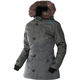 Women's Charcoal Heather/Aqua Svalbard Parka