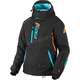 Women's Black/Aqua/Electric Tangerine Vertical Pro Jacket