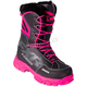 Women's Black/Fuchsia X-Cross Lace Boots