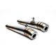 Brushed Stainless Steel GP Exhaust Mufflers - BC902-091-BR