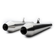 Brushed Stainless Steel Predator Pro Mufflers - BC902-101-BR