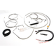 Complete Braided Stainless Cable/Brake Line Kit w/ABS For Use w/Mini Ape Hangers - LA-8151KT2A-08