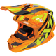 Orange/Hi-Vis Blade Carbon Throttle Helmet